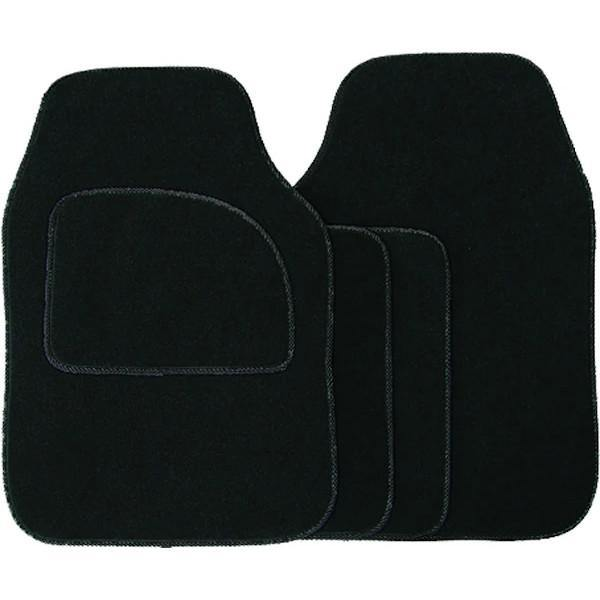 4 Piece Black Carpet Mat Set