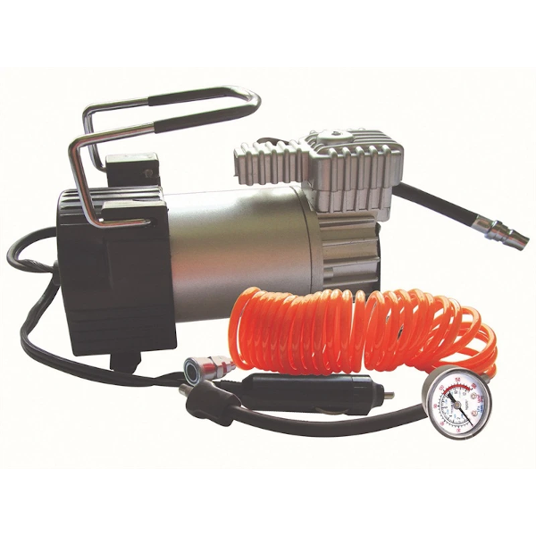 Kruga Air Compressor with Lead & Gauge - HWB Car Parts