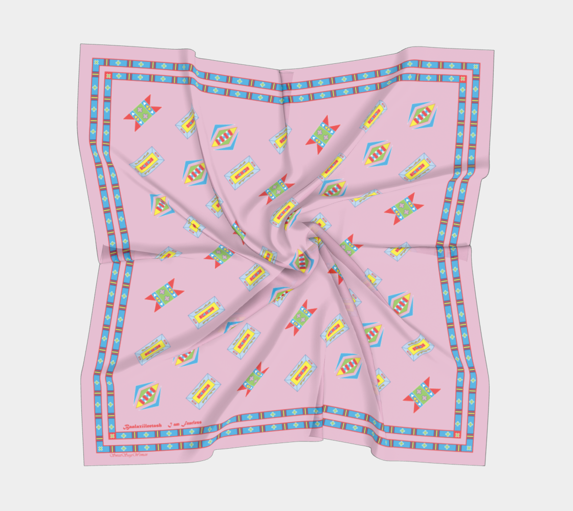 "Hiitche ""Pink"" SweetSageWoman Square Scarf"