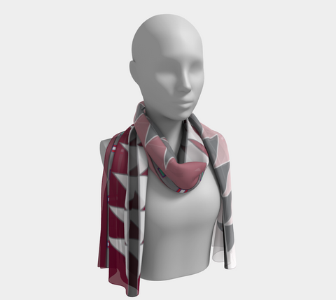 CENTERED Maroon Fade Scarf