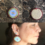 "Baaalaxiileetash""I am Fearless"" 1 1/2 inch earrings"