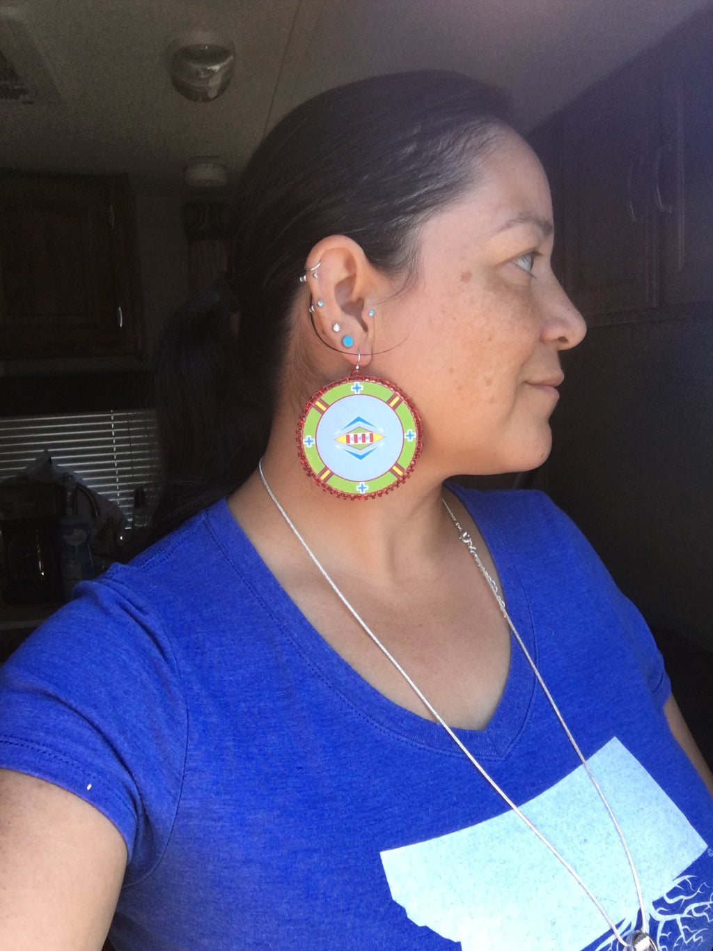 "Baaalaxiileetash ""I am Fearless"" handmade earrings"
