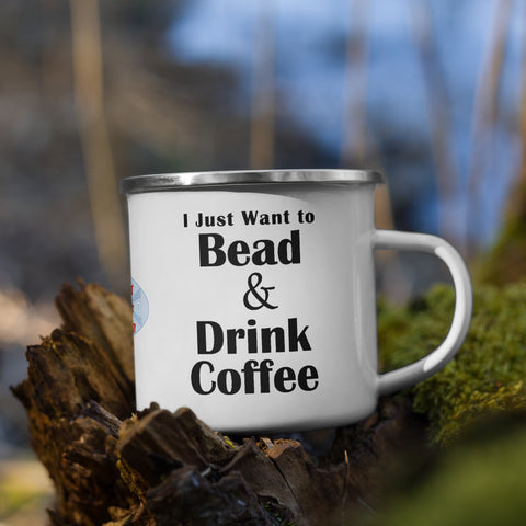 Bead & Drink Coffee Enamel Mug