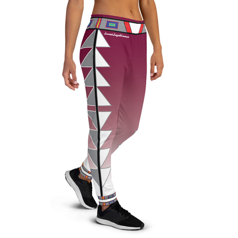 Centered Maroon Fade Women's Joggers