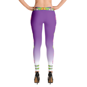 """I Love Me""  Purple and white fade Leggings"