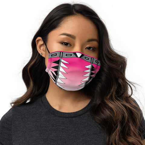 Centered Pink Fade face mask