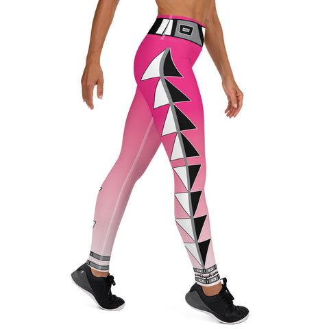 Centered Pink Fade Yoga Leggings