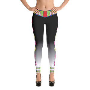 """ I Love Me!"" Black and White Fade Leggings"