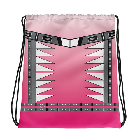 Centered Pink Fade Drawstring bag
