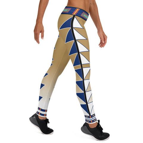 Centered Gold and Blue Fade Leggings