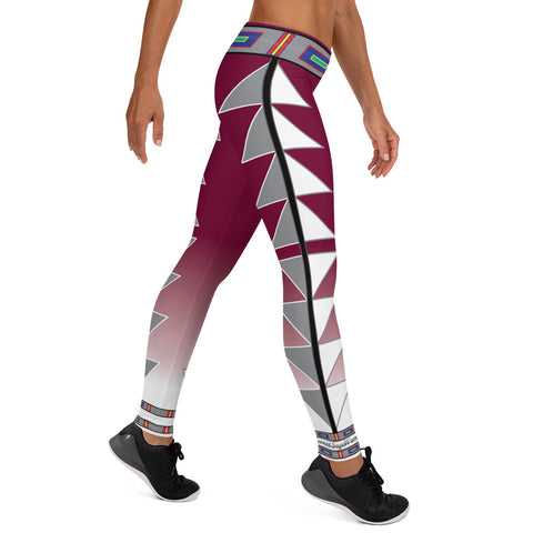 Centered Maroon fade Leggings