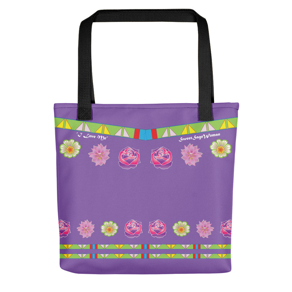"""I love Me"" Sweet Sage Woman Tote bag"