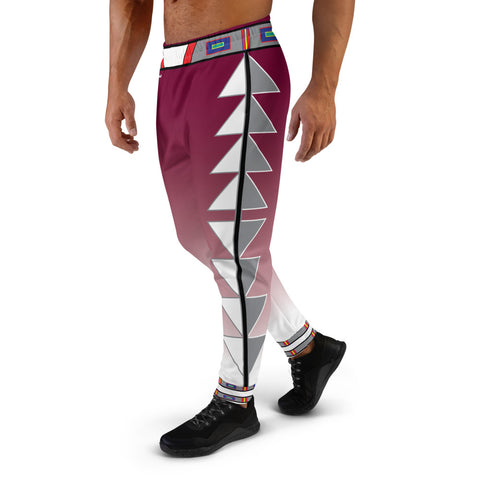Centered Maroon Fade Men's Joggers