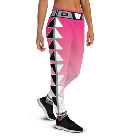 Centered Pink Fade Women's Joggers