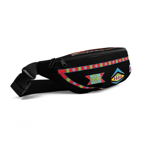 "Shipite Black and Red ""I am Fearless"" Fanny Pack"