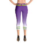 """I Love Me"" purple fade Capri Leggings"
