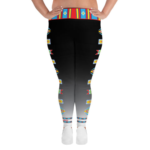 "Baalaxiileetash ""I am Fearless"" Plus Size Leggings"