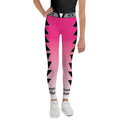 Centered Pink Fade Youth Leggings 8 to 20