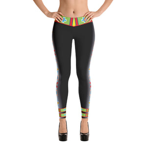 "Black ""I am Fearless"" Leggings"