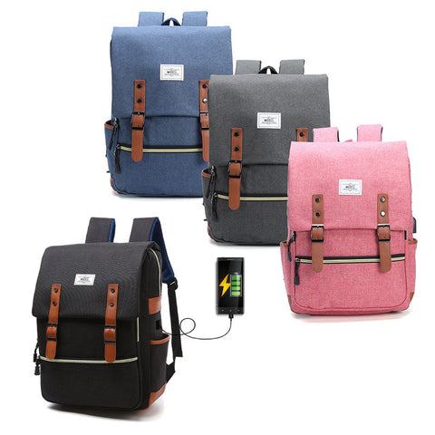 Anti Theft Waterproof Backpack Bag, Travel Bag With External USB Charging Port