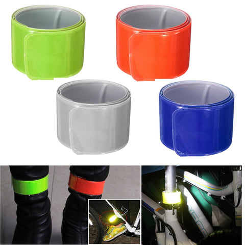 Reflective Ankle Armband Safety Silicon Strap, Belt Sports Night Light Cycling Running