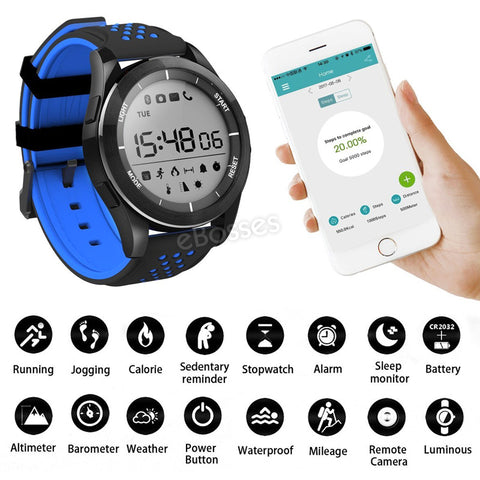 Waterproof Sleep Monitor Pedometer, Sport Fitness Bluetooth Smart Watch - MooBooExpress