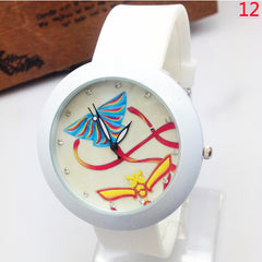 Ladies Wrist Watch Silicone Quartz Watch