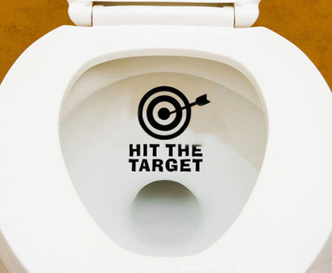 Honana Hit The Target, Toilet Wall Sticker Bathroom Decor