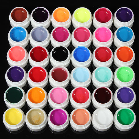 36 Colors Pure Colors UV Gel For Nail Extension - MooBooExpress