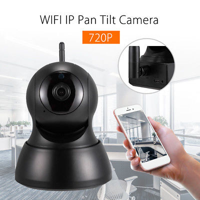WIFI IP 720P Security Camera Indoor Pan&Tilt, Night Vision Motion Detection Two Way Talk - MooBooExpress