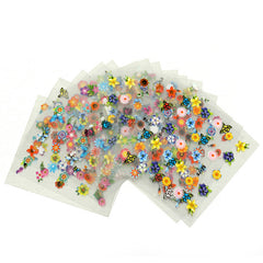30 Sheet DIY Colorful Nail Art 3D Stickers Tips