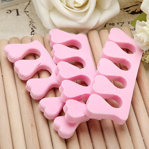 20pcs Nail Art Soft Finger Toe Separator Pedicure Tool - MooBooExpress