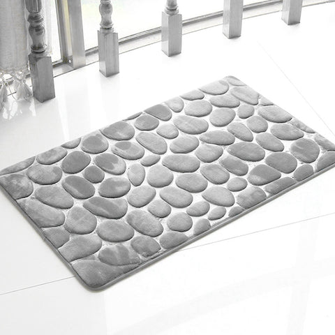 Honana Pebbles Rug Natural Absorbent Rubber Bath Mat Bottom Cotton Rebound Mat