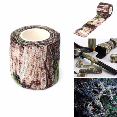 Military Camouflage Camo Tape, Stealth Wrap Hunting Camping Waterproof - MooBooExpress