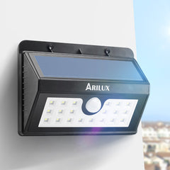ARILUX® AL-SL Wireless Solar Powered LED Motion Sensor Outdoor Wall Light
