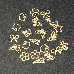 Nail Art Gold Metal DIY Sticker Design Wheel
