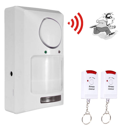 Wireless Motion Sensor Alarm Infrared Detector, 2 Remote Control - MooBooExpress