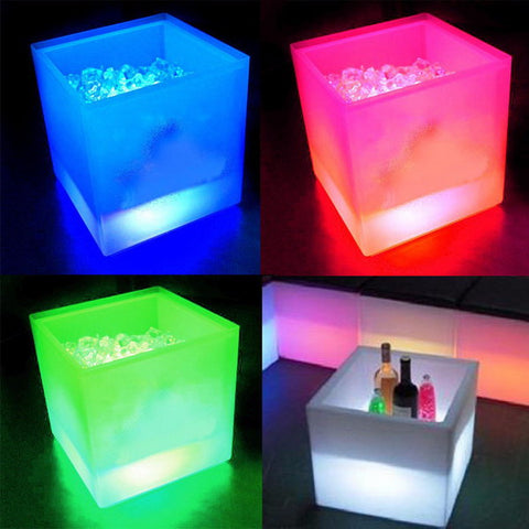 Multi-color LED Light Luminous Cooler Creative Drinks Box - MooBooExpress