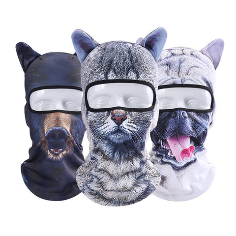 Unisex Cycling Ski Animal Full Face Mask Hat, Cosplay Party Cap Scarf - MooBooExpress
