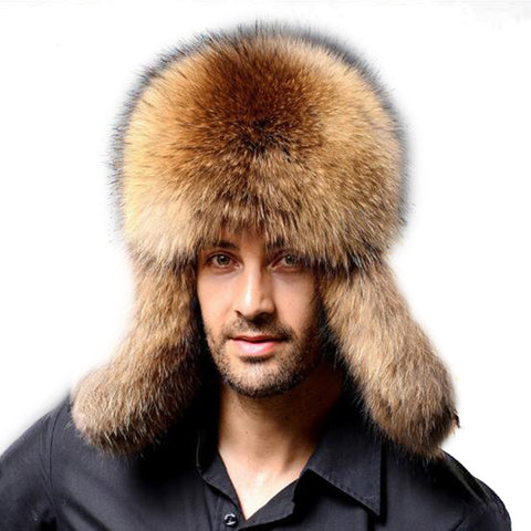 Winter Thickening Warm Faux Fur Hats, Earflaps Outdoor Windproof Russian Cap - MooBooExpress