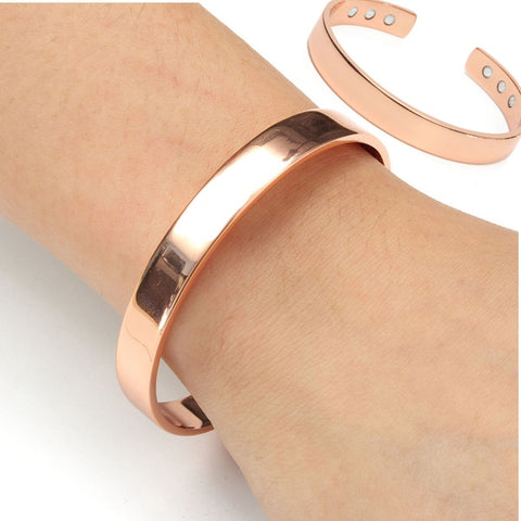 Copper 6 Magnets Magnetic Therapy Bangle Arthritis Pain Relief Bracelet