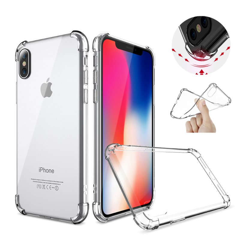 Air Cushion Corners Shockproof Clear Transparent Soft Case For iPhone X