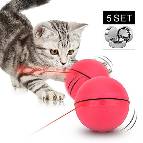 Loskii Electronic Self Rotating Ball, Automatic Rolling Ball LED Pet Toy - MooBooExpress