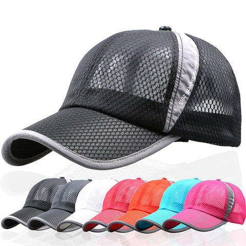 Unisex Mesh Breathable Summer Hat Sport, Adjustable Buckle Baseball Cap - MooBooExpress