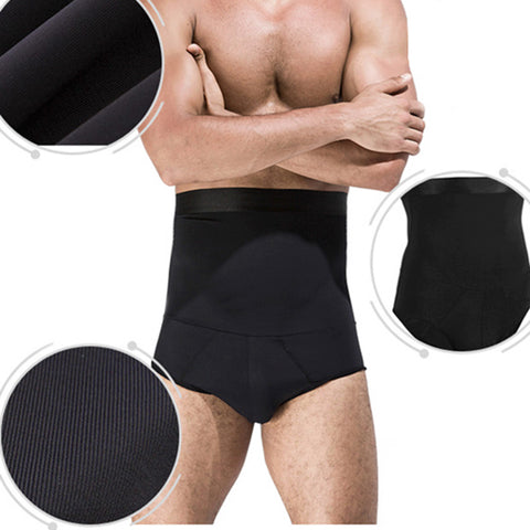 High Waist Fitness Body Sculpting Tummy Tuck, Breathable Shapewear for Men - MooBooExpress