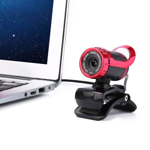 HD Auto 12M Pixels Webcam with Mic Rotatable Adjustable Camera for PC Laptop - MooBooExpress