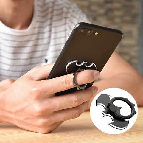 Oatsbasf Bat Metal Rotation Finger Ring Holder Stand for Samsung Mobile Phone - MooBooExpress
