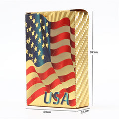 Gold Coated Playing Cards, Poker Game USA National Flag Style