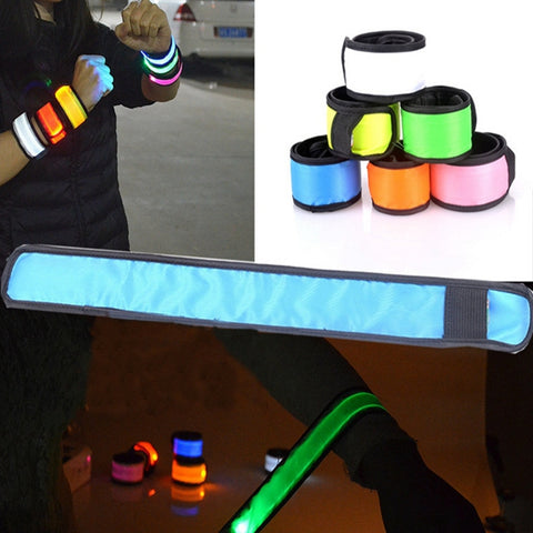 Night Luminous LED Reflective Wrist Arm Band - MooBooExpress