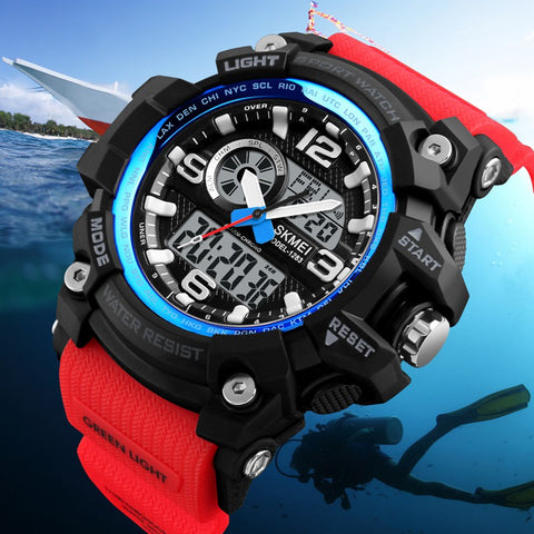 SKMEI Military Dual Display Chronograph LED Sport Digital Watch